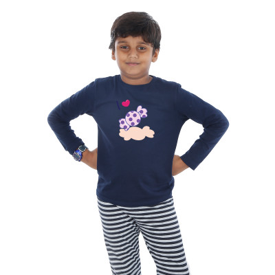 Blue Full Sleeve Boys Pyjama - Chocky
